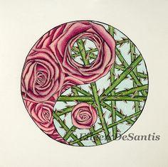 Roses/Thorns Yin Yang