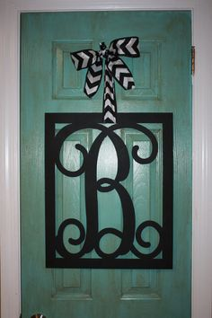 Monogrammed Metal Wreath / Hanger by SouthernStyleGifts on Etsy, $55.00