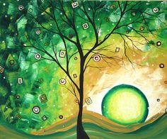 Barren Green - acrylic by ©Megan Duncanson (via ArtistRising)