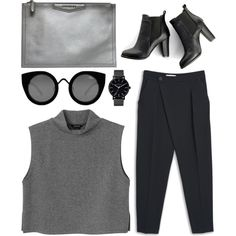 sorry by grey-eyes on Polyvore featuring Monki, MANGO, SWEET MANGO, Givenchy, The Horse and Quay