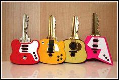 Las llaves de los amantes de las guitarras