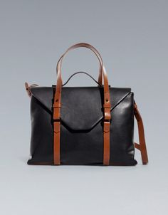 But I want this one too..CITY MESSENGER BAG - ZARA