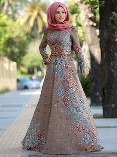 Kasımpatı Elbise - Vi̇zon - Zehrace