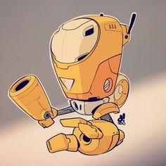 #BOTOBER 13-003 'Seeker Drone' #robotsalldaylong #creativelife - by Dacosta!