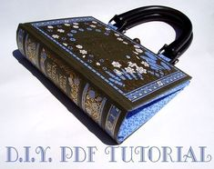DIY book handbag PDF tutorial (Austen novels pictured) $14