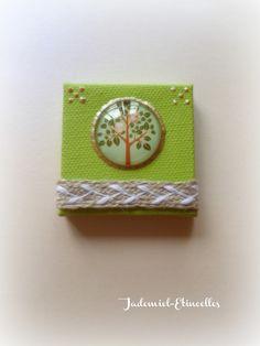 """Mini toile décorative série """" Parfum d' Enfance """" n°1 : Accessoires de maison par jademiel-etincelles"""