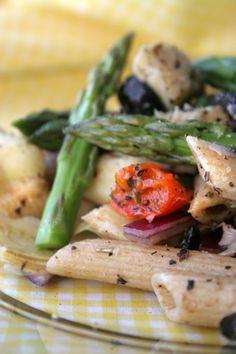 Asparagus and Artichoke Pasta Salad