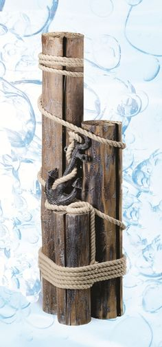 Find Decorative Nautical Pilings with Rope & Anchor, Outdoor Coastal Decor & Beach House Gifts at the Best Prices from Everything Nautical