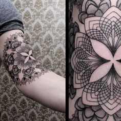 Fantastic geometric tattoo.