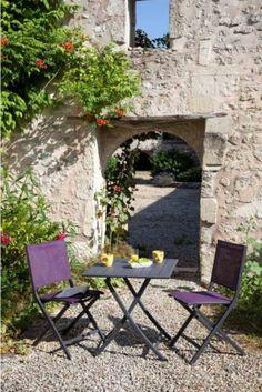 Photo Salon AZURO blanc argent | Jardin d\'été | Pinterest