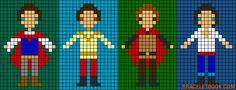 Prince Charming Snow White and Cinderella, Prince Philip, Prince Eric perler bead pattern