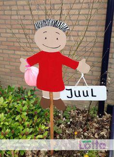 www.doorlotte.nl geboortebord Juul