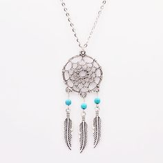 Spread the love of Acmefame New Fashion accessories jewelry Dream catcher leather pendant necklace gift for women girl wholesale N1685