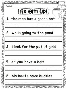 1st Grade Worksheets for January | A website, Spring and Sentence for