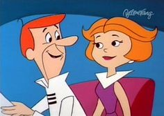 The Jetsons Theme Song Cartoon N, Couple Cartoon, Vintage Cartoon, Cartoon Characters, Movie Couples, Famous Couples, Hi Boy, The Jetsons, Happy 50th