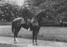 President Taft on  horseback.