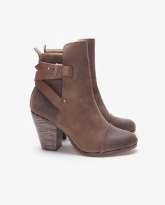 can you ever go wrong with a rag & bone bootie??  rag & bone Kinsey Brown Waxed Suede Ankle Boot