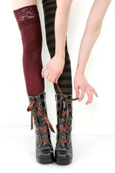 Steampunk boots and.stockings