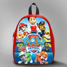 Paw Patrol Movie, School Bag Kids, Large Size, Medium Size, Small Size, Red, White, Deep Sky Blue, Black, Light Salmon Color