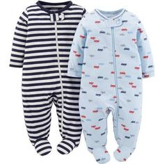 Child Of Mine Made By Carter's Baby Boy Sleep N Play – 2-Pack   Child Of Mine Made By Carter's Baby Boy Sleep N Play - 2-Pack Great for playtime, naptime, or anytime- this 2 pack zip-up includes 1 print and 1 solid with art details. Built in feet and comfortable cotton keep baby cozy while zipper closure and neck tab allow for easy dressing while protecting baby. Perfect gift-giving item!  http://www.allsleepwear.com/child-of-mine-made-by-carters-baby-boy-sleep-n-play-2-pack-2/