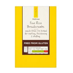 Waitrose Fine Rice Bread Crumbs: Gluten Free ~ For more treasures like this - 'Like us' on http://fb.me/Biskgetz to help our community grow! Biskgetz.com #Biskgetz @Biskgetz #IntoGlutenFree - celiac disease, coeliac disease, gluten free diet, wheat free diet, gluten intolerance, gluten sensitivity, gluten allergy.