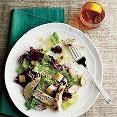 Grilled Chicken Caesar Salad Recipe | MyRecipes.com