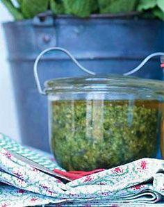 Minze-Cashew-Pesto - Vegan World Pesto Dip, Pesto Sauce, Pesto Pasta, Veggie Recipes, Cooking Recipes, Healthy Recipes, Chutneys, Everyday Dishes, Mint