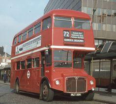 London Transport . RM326 WLT326 . Butterwick Bus Station . Hammersmith . London… London Bus, Old London, West London, Road Transport, London Transport, Public Transport, Rt Bus, Volkswagen Bus, Volkswagen Beetles