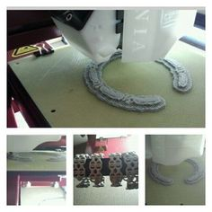 #Afternoon #3dPrinting More of these #cuff #bracelets #inprogress