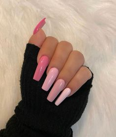 Are you looking for pink nail design ideas? Check out these 45 awesome ideas and get inspired from them. Acrylic Nails Coffin Pink, Pink Nail Art, Summer Acrylic Nails, Coffin Acrylic Nails, Turquoise Acrylic Nails, Bright Pink Nails, Matte Pink Nails, Colored Acrylic Nails, Pink Acrylics
