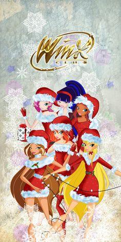 merry christmas by CostantStyle on DeviantArt Disney Phone Wallpaper, Cartoon Wallpaper, Iphone Wallpaper, Bloom Winx Club, Winx Cosplay, Wallpaper Natal, Ariana Instagram, Les Winx, Flora Winx