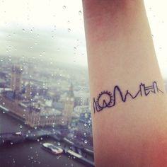 London skyline tattoo