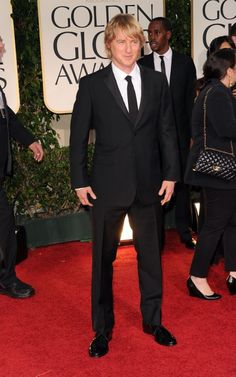 Yummy. Of course I am talking about the suit! (Owen Wilson wearing Burberry tailoring to the 2012 Golden Globe Awards)