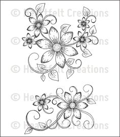 Heartfelt Creations Sun Kissed Cling Rubber Stamp Set Swirls