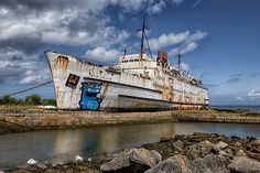The Duke of Lancaster was a railway steamer passenger ship that operated in Europe from 1956 to 1979, and is currently beached near Mostyn Docks, on the River Dee, north Wales, UK  by Adrian Evans