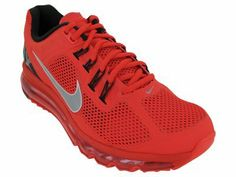 Nike Air Max+ 2013 Mens Running Shoes 554886-600 Nike. $164.95. Hyperfuse upper with open mesh. Refelctive elements for visibility in low light. Full length Max Air Unit. rubber sole. Flywire cables for support. synthetic-and-mesh. Nike+ ready