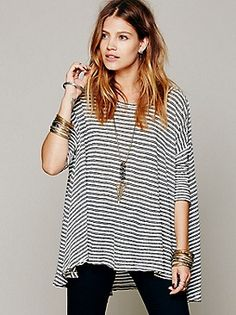 Ivory Black Free People top