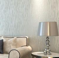Textured  Flocking Stripe Wall paper Roll Silver Glitter Stripe Wallcovering Rolo Papel de parede Listrado 5 Colors Choose