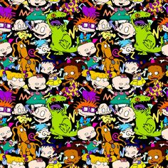 PREORDER Diaper Baby Fabric by the Yard Quilting Cotton | Etsy Rugrats, Ios Wallpapers, Pretty Wallpapers, Iphone Wallpaper, Frozen Mermaid, Baby Fabric, Retro Cartoons, Black Cartoon, Cartoon Sketches