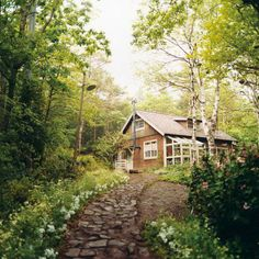 My little cottage in the woods! Cozy Cottage, Cottage Homes, Cottage Living, Tiny Living, Cabins In The Woods, House In The Woods, Beautiful Homes, Beautiful Places, House Beautiful