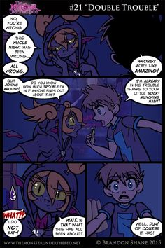 "#21 ""Double Trouble"" Dark Comics, Fun Comics, Romance, Monster Under The Bed, Spirited Art, Wattpad, Mega Man, Double Trouble, Anime Art"
