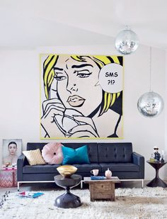 New Pop Art Interior Design Inspiration Mid Century Ideas Interior Design Inspiration, Decor Interior Design, Interior Decorating, Decorating Games, Pop Art Decor, Decoration, Modern Pop Art, Modern Lamps, Modern Decor