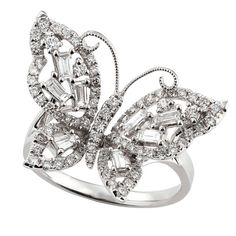 I have gone from caterpillar to butterfly. :)  Diamond Butterfly Ring 14K :: Ben Bridge Jeweler