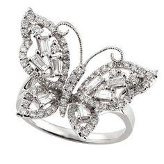 Beautiful Diamond Butterfly Ring 14K :: Ben Bridge Jeweler.........I want it I need it !!!!!!