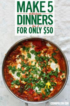 Make 5 (Delicious) Dinners for 2 for Only $50 - Affordable Dinner Recipes