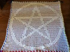 Pentagram Altar Cloth Tarot Cloth or Doilie by catsandcauldrons, $35.00