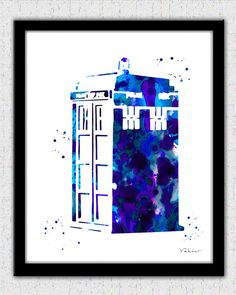 Tardis art print Doctor Who poster Tardis art by FluidDiamondArt