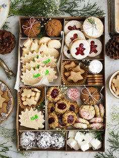 Holiday Cookie Box (with Anna and Alex!) – Christina M Holiday Cookie Box (with Anna and Alex!) One of my favourite things about the holidays is that I get to find extra excuses to spend time with friends. Christmas Cookie Exchange, Christmas Sweets, Christmas Cooking, Christmas Goodies, Christmas Cookie Boxes, Christmas Biscuits, Christmas Holidays, Christmas Tea Party, Christmas Brownies
