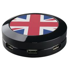 United Kingdom Flag Seven Port USB Charger