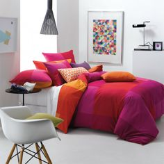 Linen House Pasito the art! Beautiful Bedroom Designs, Beautiful Bedrooms, Interior And Exterior, Interior Design, Orange Interior, Cute Room Ideas, Queen, Dream Bedroom, Duvet Cover Sets